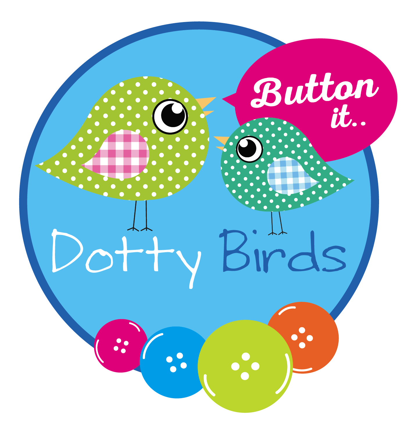 Dotty Birds - Button It Packs